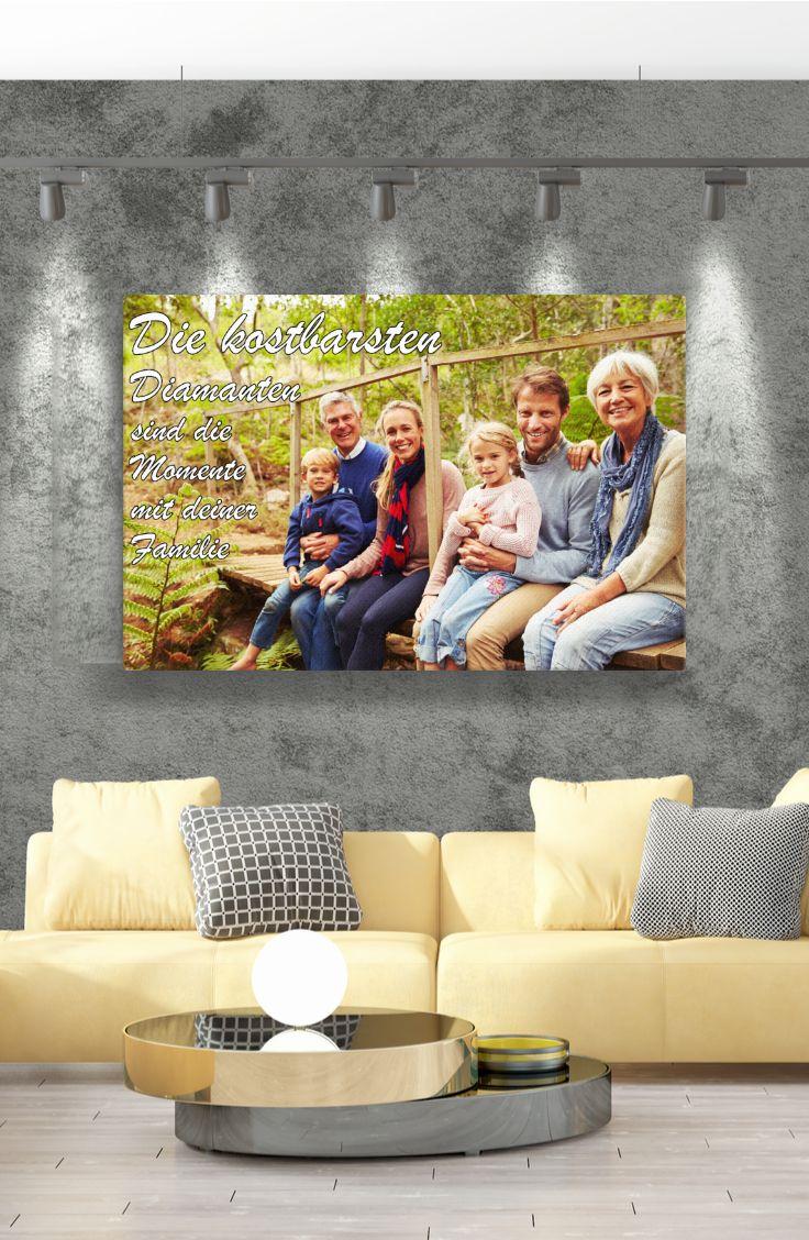 personalisierte leinwand mit eigenem text wandkunst ich bin immer fur dich da foto auf versandkostenfrei 150x100