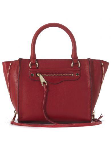 REBECCA MINKOFF Borsa A Mano Rebecca Minkoff Mini Regan In Pelle Rossa. #rebeccaminkoff #bags # #