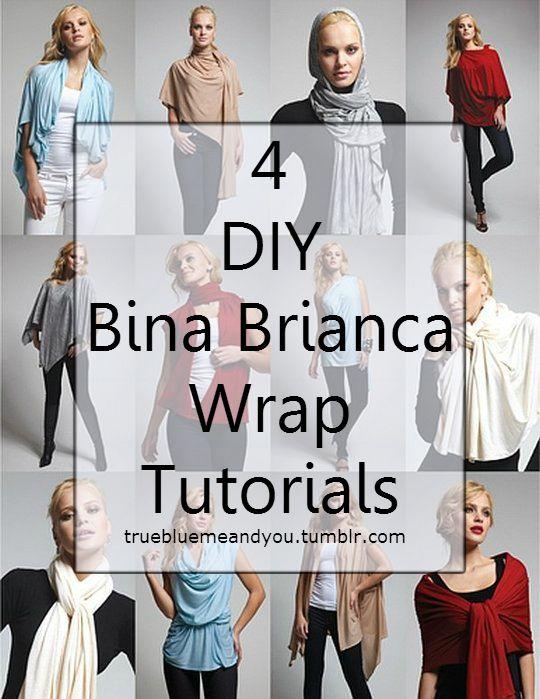 DIY 4 Bina Brianca Wrap Tutorials. Sew and no sew versions + link to ...