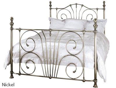 Serene Jessica Metal Bed Frame at bestpricebeds.co.uk
