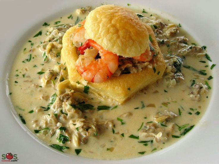 SOSCuisine: Seafood in a Puff Pastry Shell