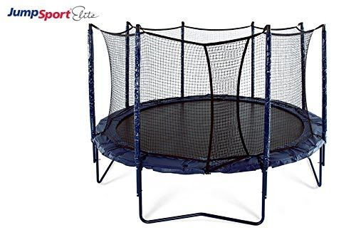 [Features & Benefits] JumpSport Elite 14' Trampoline — NEW Integrated Safety Enclosure Included— Superior Quality, Easy-Up Net Installation — Exclusive Spring Technology for Performance and Safety