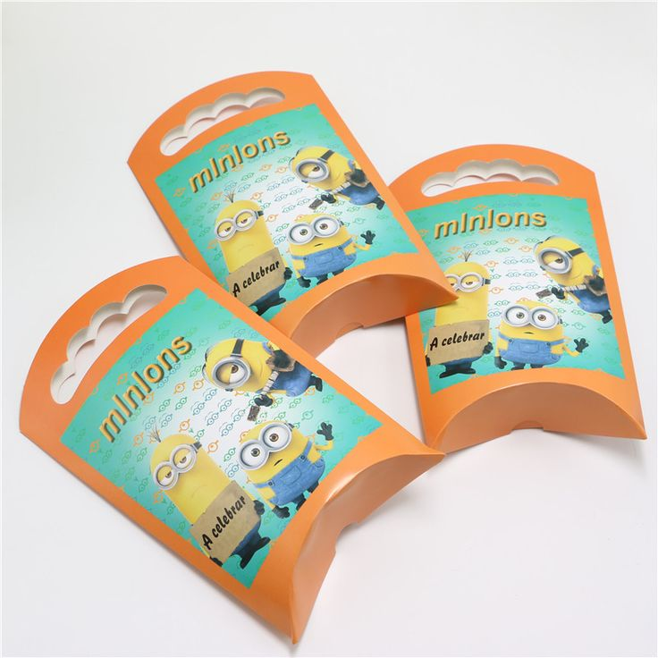 6pcs/lot Minions Despicable Me Cartoon Theme Gift Bags Kids Boys Happy Birthday Party Decoration Supplies Favors Paper Loot Bags