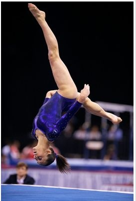 Jordyn Wieber tumbles during the floor event finals at the 2012 Kellogg's Pacific Rim gymnastics meet, where she'd take gold for Team USA.