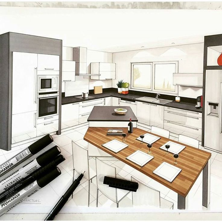 Arch More Instagram O 7108 Interior Design SketchesInterior RenderingPlan