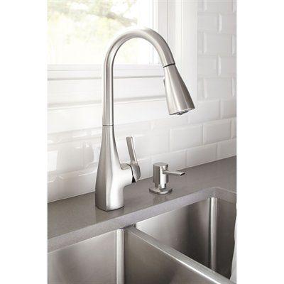 moen 87599srs kiran spot resist stainless 1handle pulldown kitchen faucet - Sink Faucets