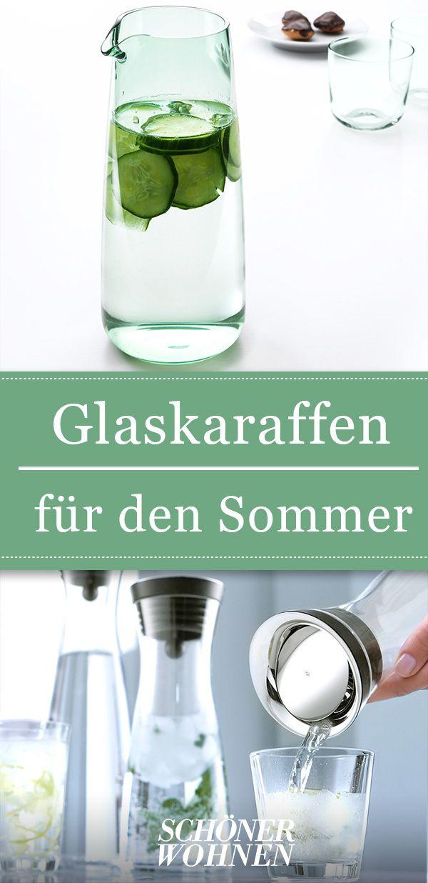 Glaskaraffen mit Deckel & ohne [SCHÖNER WOHNEN]
