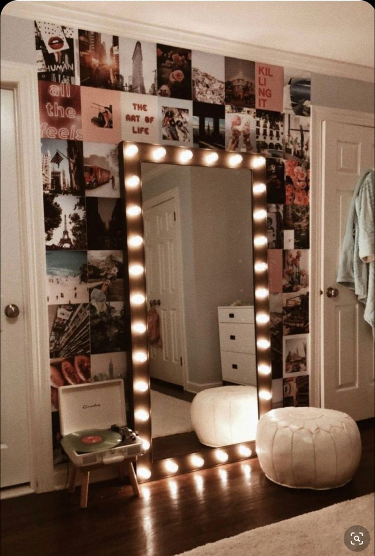 Vanity hollywood mirror with light, showroom mirror with
