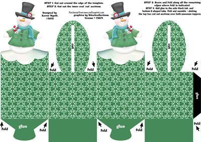 Чудесное поле шаблона матрас, который складывается вместе, чтобы сформировать два сидит Снеговик топперы. Легко следовать инструкциям на листе. Идеально подходит для добавления Рождественские угощения, монеты, подарки, конфеты, кексы и многое другое! Легко для детей, чтобы создать для поделок. Наслаждайтесь! ХК