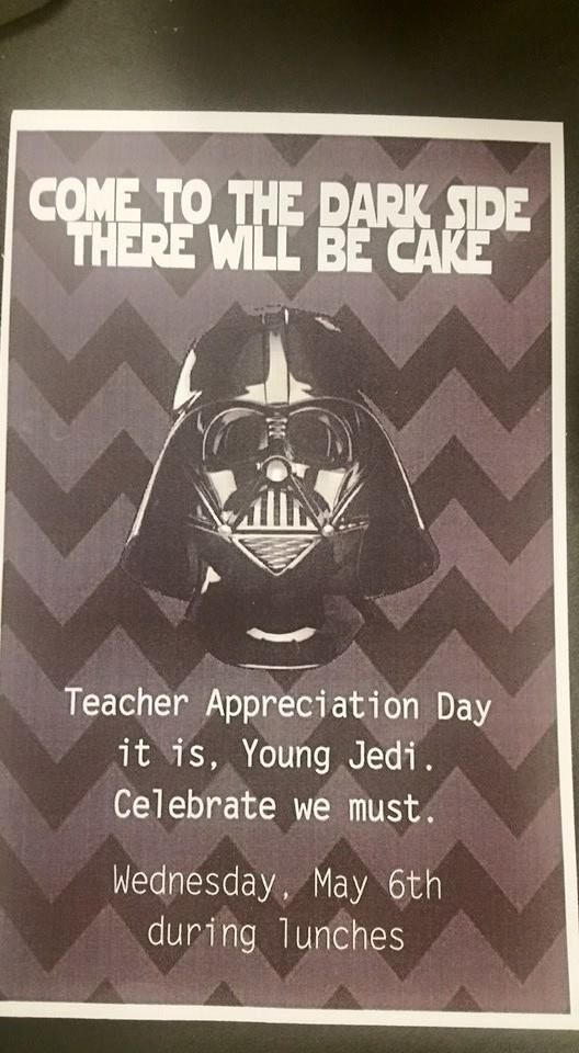 10+ images about Star Wars Teacher Appreciation Week on ...
