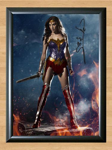 Wonder Woman Gal Gadot Signed Autographed A4 Photo Print Poster Memorabilia 1