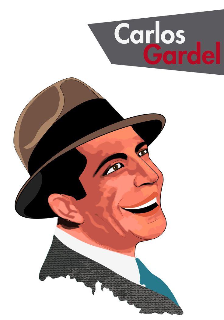Carlos Gardel Ilustración  By: Carlos Mario Narváez Mejía