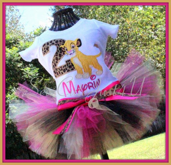 Simba Themed Birthday Number Shirt and Tutu Set by SewCuteJust4U, $42.00