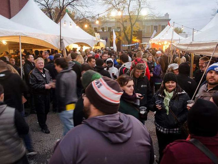 A scene from the Windsor Craft Beer Festival of October 2014.