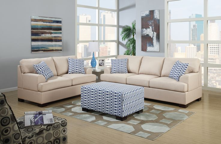 Bobkona Montega Microfiber Sofa and Loveseat Set