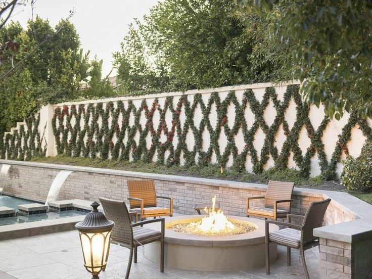See Inside Kris Jenner's New $2.3-Million California Mansion - The Fire Pit - from InStyle.com