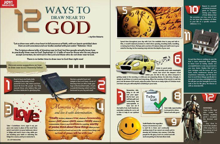 12 ways to draw near to GOD - JOY! Magazine