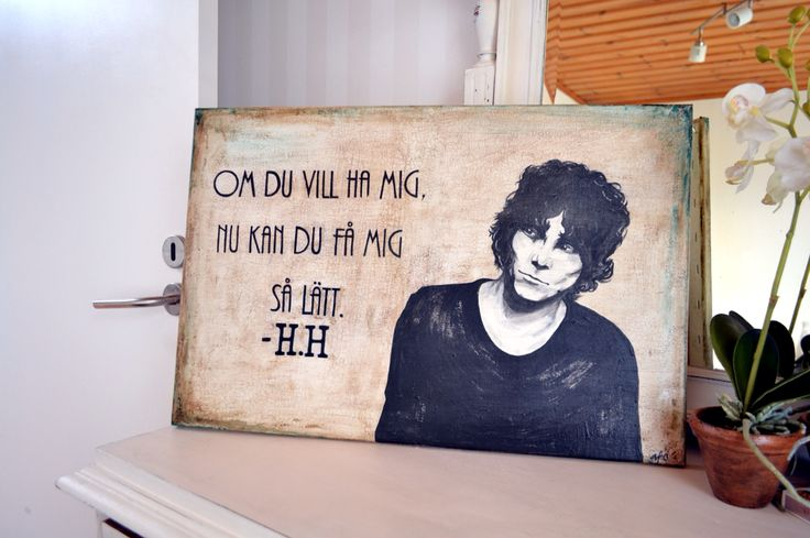 håkan hellström-tavla målad i Chalk Paint. #chalkpaint #håkanhellström #artbyafo