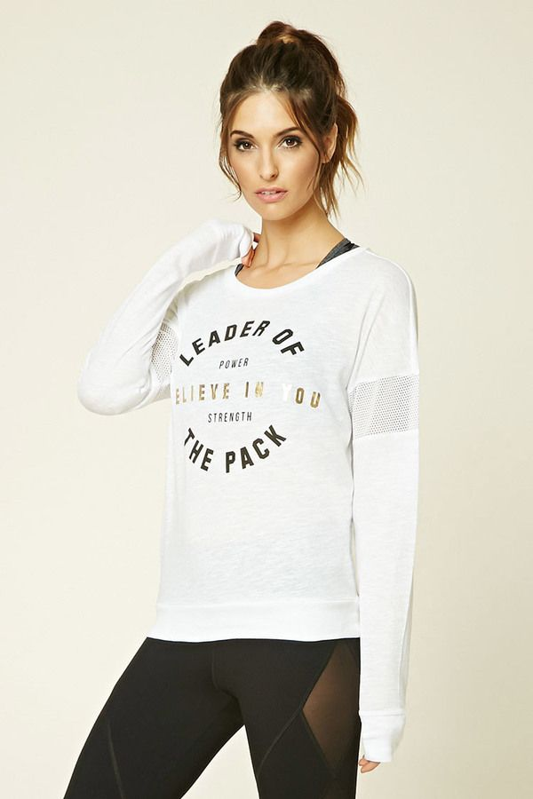 FOREVER 21 Active Leader Graphic Top