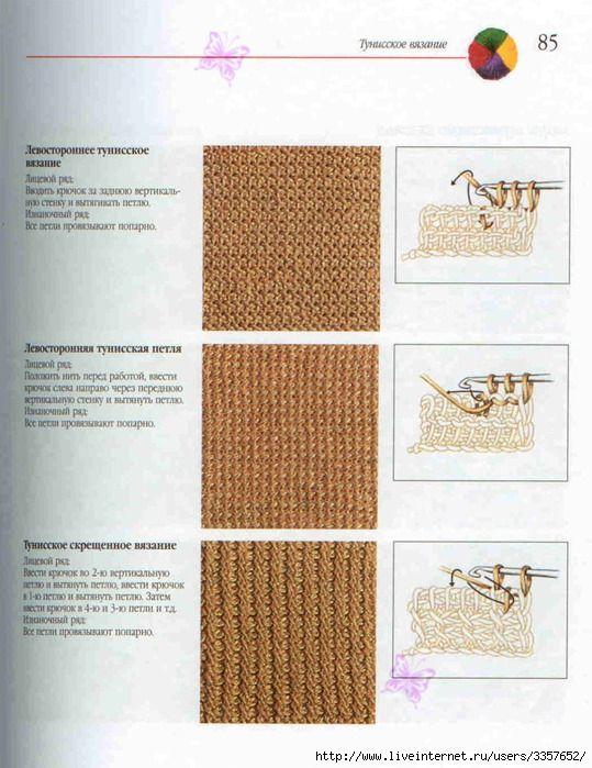 Uncinetto Tunisino, schemi,modelli,tutorial
