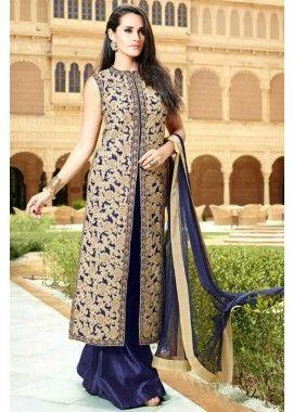 bleu costume Anarkali net, - 143,00 €, #Salwarkameezmariage #Robeindienne #Robepakistanaise #Shopkund