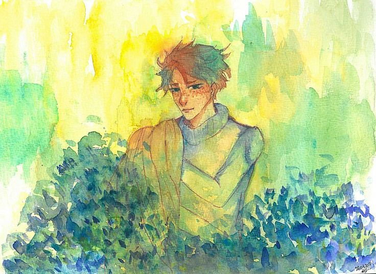 Yaaay… Finally I've managed to scan this paint. Sorry for waiting you soo long( Worth it, though. ) Quality is awesome. **^** The one who inspires me is @salmonella_fish. I luv your art. (●>v<●) #drawing #doodle #sketches #man #watercolor...