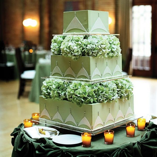 Green Wedding Cakes: Give Your Big Day a Refreshing Touch!!