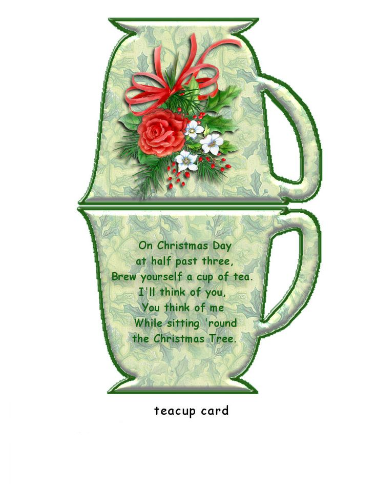 ChristmasTea bag holder | Printables | Pinterest | Bag ...
