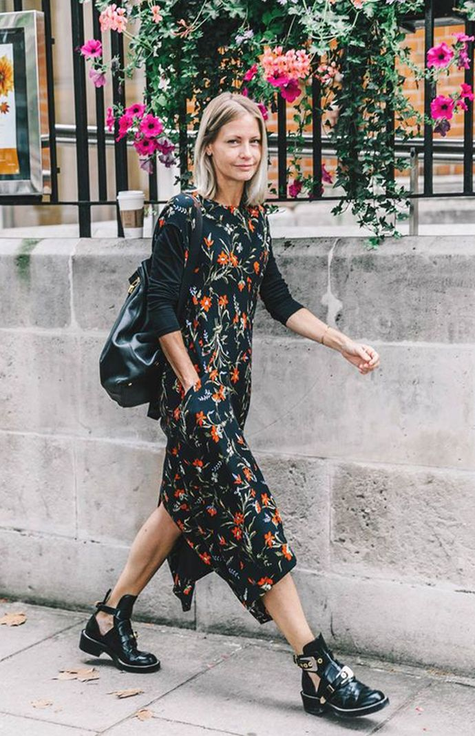 Image result for couch florals  street style 2017