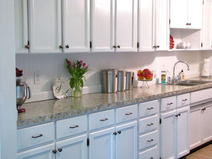 The Modest Homestead Kitchen Update Faux Granite Countertops And Backsplash