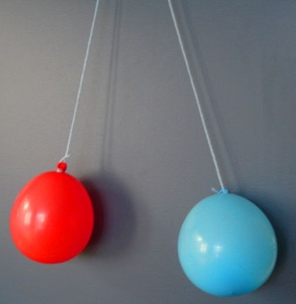E is for Explore!: Static Electricity!  2 Balloons Attract & Repel