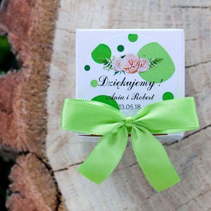 pudełeczko dla gości weselnych kropki