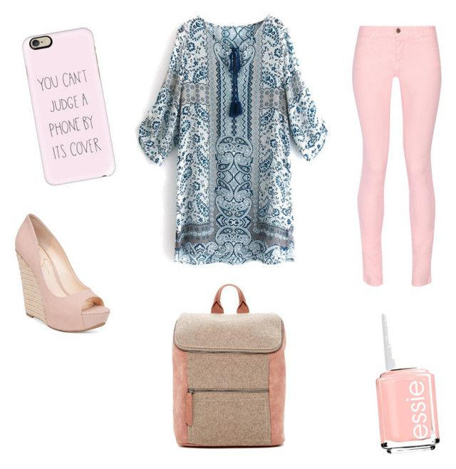 """""""Wowwww😜😜😜😜😜"""" by briana-maria-simon on Polyvore featuring beauty, Maison Kitsuné, Casetify, Jessica Simpson, Essie and Danielle Nicole"""