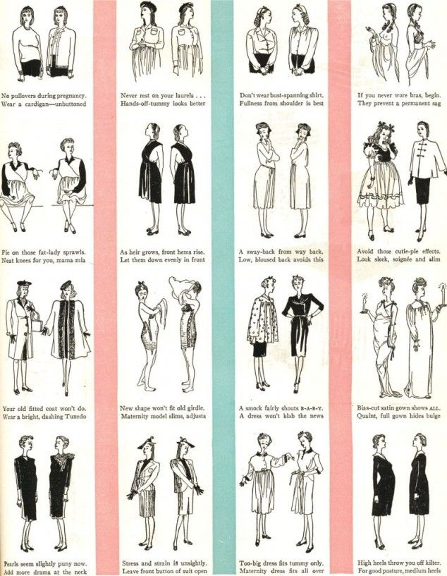 Vintage Fashion Advice for Pregnant Women. Too funny.