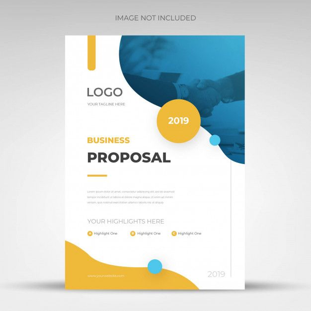 Modern Blue Corporate Business Proposal Template Design Proposal