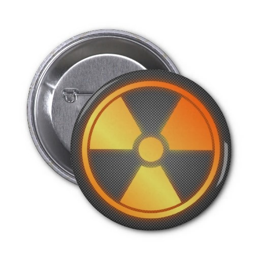 radioactive carbon fiber pin by BannedWare