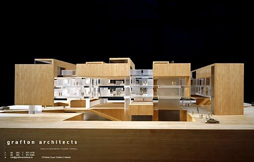 Images of a prototypical hospital developed by grafton for Grafton architects