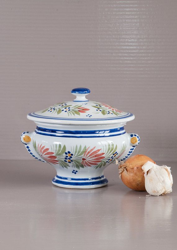 Quimper Pottery Small Soup Tureen. Hand by SoFrenchBrocante