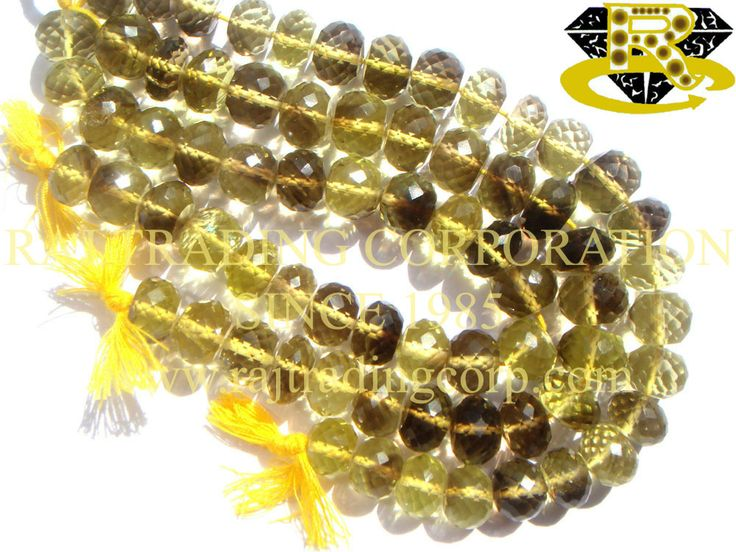 Bio Lemon Faceted Roundel (Quality AA) Shape: Roundel Faceted Length: 18 cm Weight Approx: 29 to 31 Grms. Size Approx: 9.5 to 11 mm Price $35.60 Each Strand