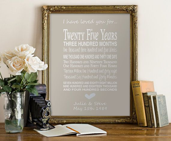 46th Wedding Anniversary Gift: 1000+ Ideas About 25th Anniversary Gifts On Pinterest