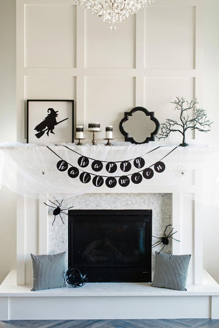 25 cool black and white halloween decorations ideas