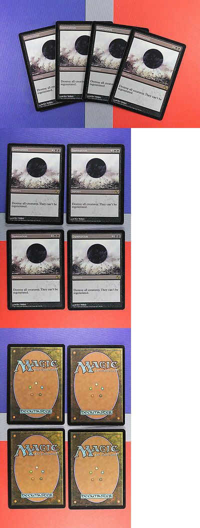 MTG Individual Cards 38292: Damnation [4X X4] Planar Chaos Nm-M Magic Cards Mtg (Id# L134) Abugames -> BUY IT NOW ONLY: $139.96 on eBay!
