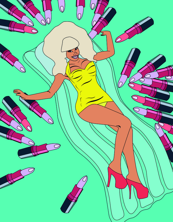 #fashion #graphics #illustration #art #illustrator #girl #popart #pop #art #design #mac #vivaglam #nicki #minaj
