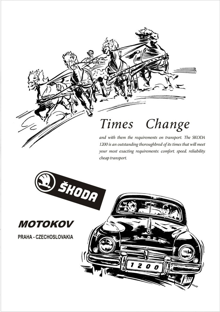 Skoda 1200 Motor Car Autocar Advert 1954