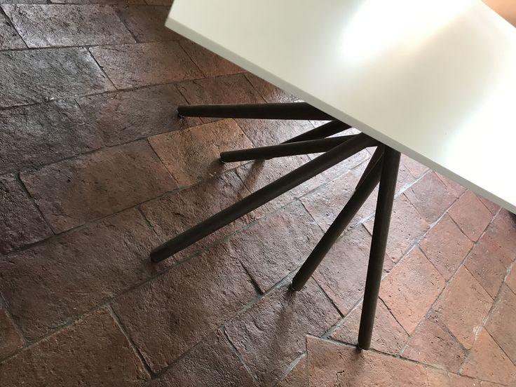Mikado table corian e corten