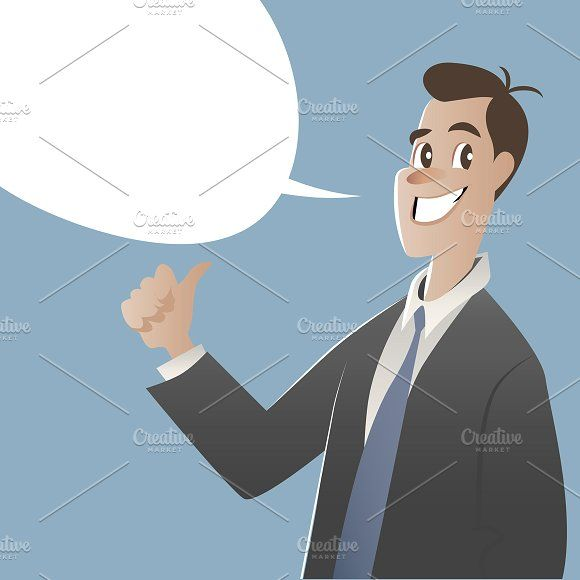 Businessman and speech balloon by La Inspiratriz on @creativemarket