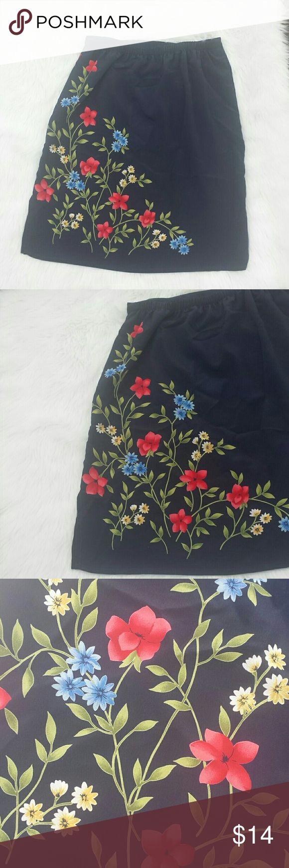 "90's style slip skirt Cute floral slip style skirt - no labels - feels like a nylon/rayon material. Waist 13.5"" length 21"" Skirts Mini"