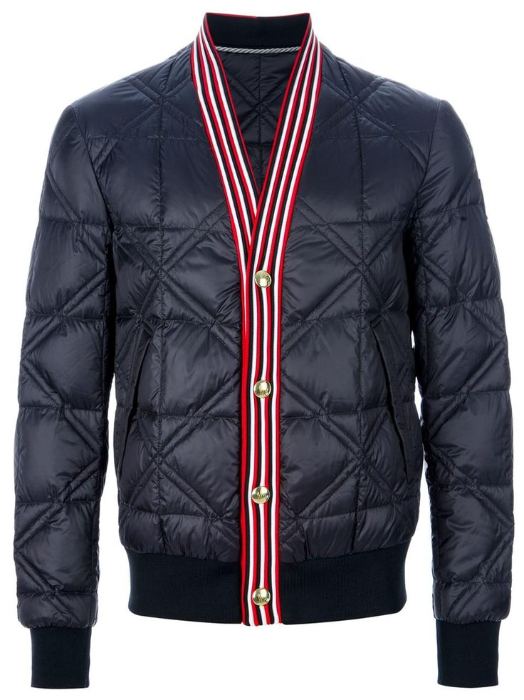 Moncler Gamme Bleu quilted jacket. Check out more baseball jackets http://www.wantering.com/mens-clothing/jackets/