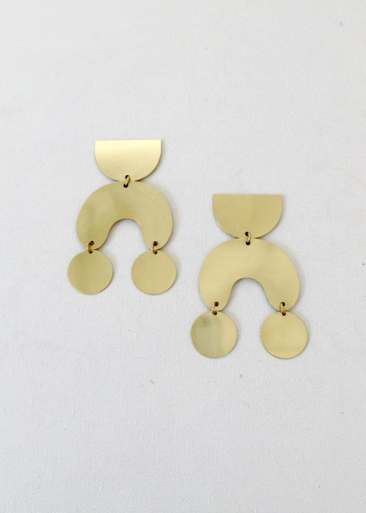 Brass Moon Dancer Earrings