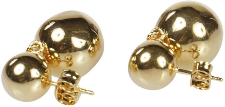 Celine Dot Double Pearl Earrings